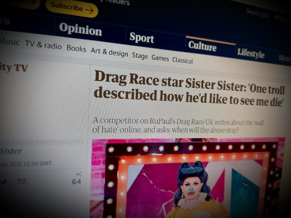 Drag Race star Sister Sister: 'One troll described how he'd like to see me die'