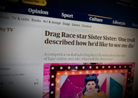 Drag Race star Sister Sister: 'One troll described how he'd like to see me die'