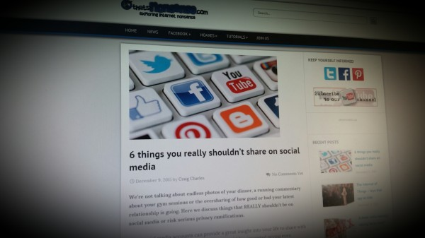 6 things you really shouldn't share on social media