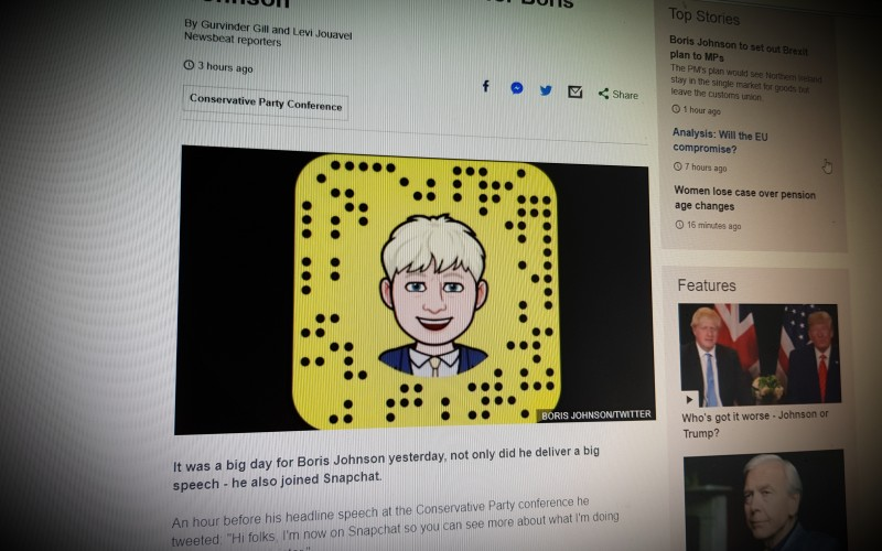 Snapchat: Dos and don'ts for Boris Johnson