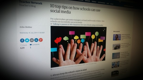 10 top tips on how schools can use social media