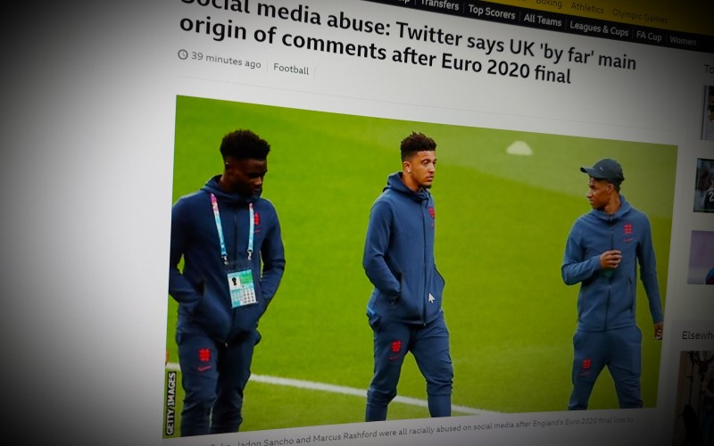 Twitter says UK 'by far' main origin of comments after Euro 2020 final