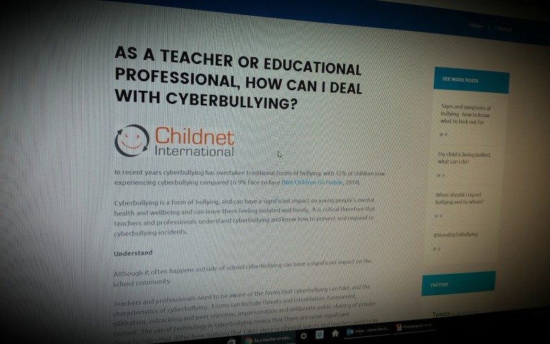 AS A TEACHER OR EDUCATIONAL PROFESSIONAL, HOW CAN I DEAL WITH CYBERBULLYING?