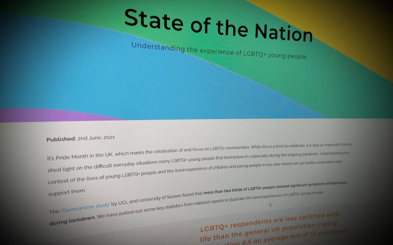 Understanding the experience of LGBTQ+ young people.