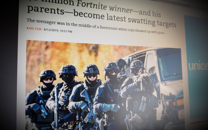 $3 million Fortnite winner—and his parents—become latest swatting targets