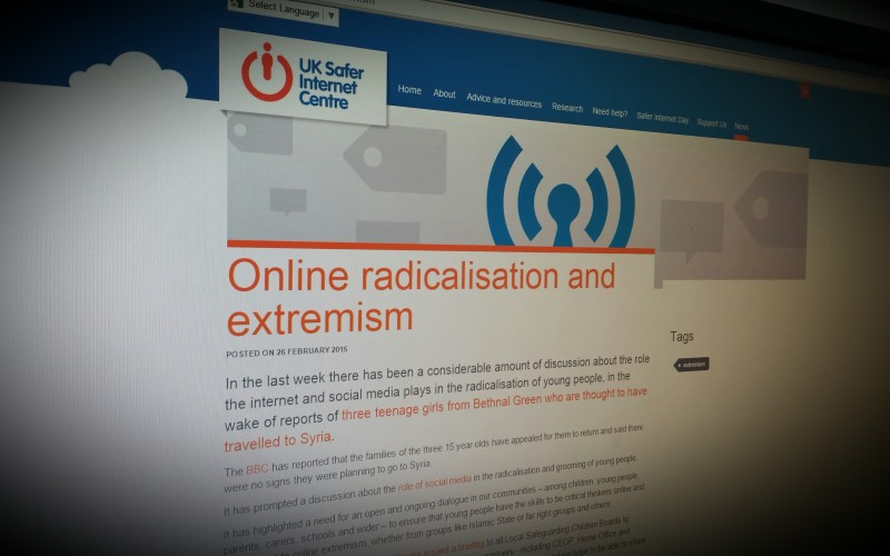 Online Safety – Protecting our children from Radicalisation and Extremism