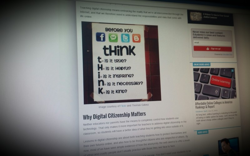 The teacher's guide to digital citizenship