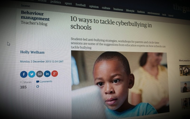 10 ways to tackle cyberbullying in schools
