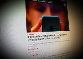 Thousands of children under 14 have been investigated by police for sexting