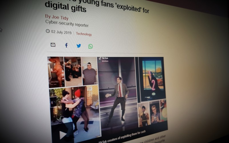 TikTok's young fans 'exploited' for digital gifts