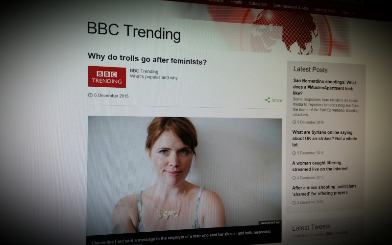 Why do trolls go after feminists?