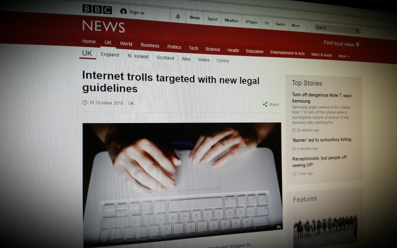 Internet trolls targeted with new legal guidelines