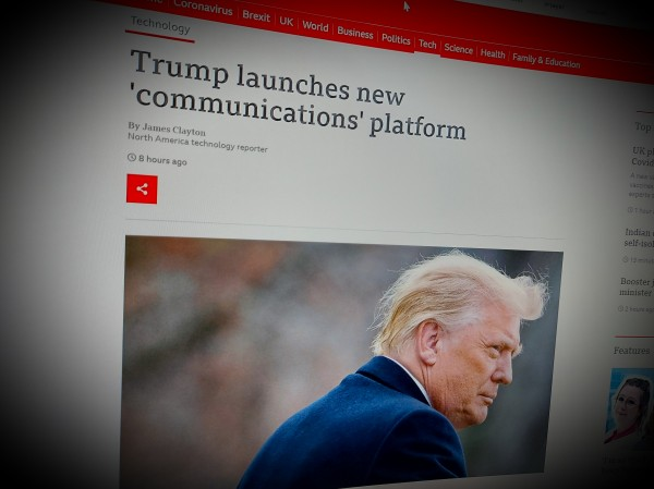 Trump launches new 'communications' platform