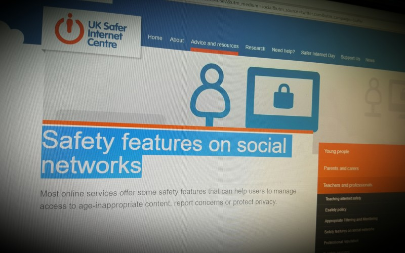Safety features on social networks - UKSIC