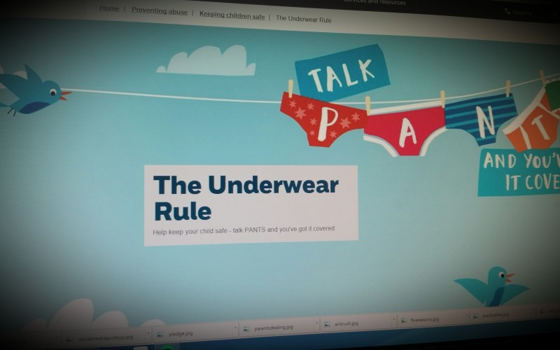 Teach Your Child the Underwear Rule - NSPCC Campaign