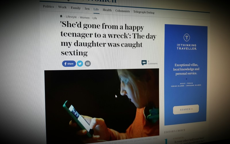 'She'd gone from a happy teenager to a wreck': The day my daughter was caught sexting