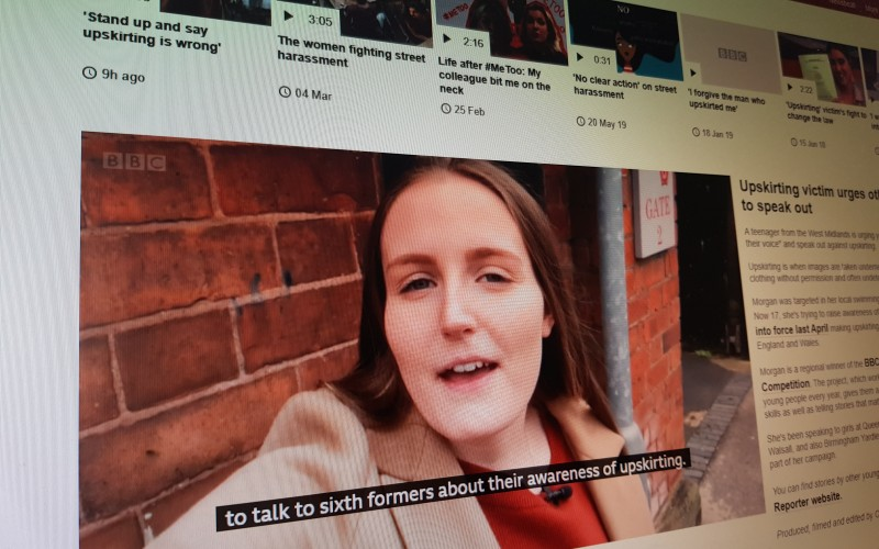 Upskirting victim urges other girls to speak out