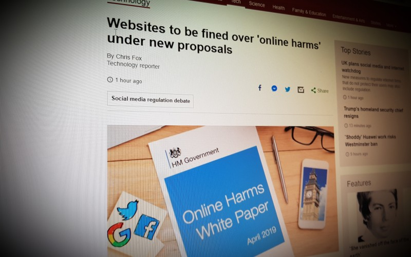 Websites to be fined over 'online harms' under new proposals