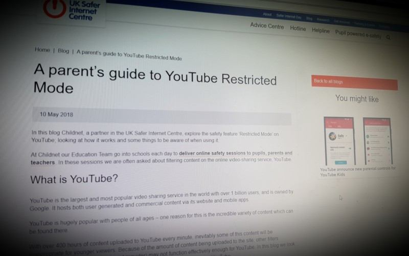 A parent's guide to YouTube Restricted Mode