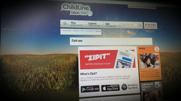 Zipit. Anti sexting app from Childline